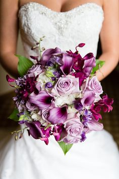 Purple Calla Lily Wedding Bouquet | Wedding Flowers, Purple Wedding Bouquet, Purple Calla Lily Bouquet ...