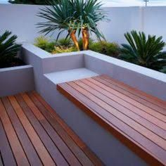 cantilevered outdoor timber seating - Google Search