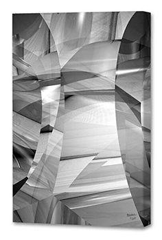 "@@  Menaul Fine Art ""Insanity: Black/White"" Limited Edition Artwork, 36 x 45"", Black/White/Gray/Grey"