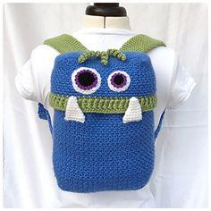 Knapsack Monsters Crochet Backpack design