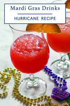 Make this simple and delicious Hurricane drink for your Fat Tuesday Celebrations with the recipe from Everyday Party Magazine #NOLA #MardiGras #HurricaneDrink