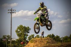 https://flic.kr/p/x3iStp | Clear of the Jump | Motocross racing at the Oklahoma Motorsports Complex in Norman, Oklahoma.