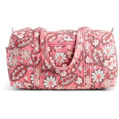 Vera Bradley Small Duffel 2.0 Travel Bag in Blush Pink ($68) ❤ liked on Polyvore featuring bags, luggage and blush pink