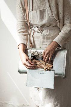 Vasculum botanical box tinplate and brass handmade in