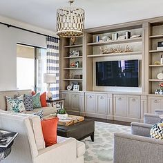 Unit details | Practical and beautiful family room by J & J Design Group