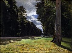 CLAUDE MONET 1840  -  1926.        The Pave de Chailly in the Fontainbleau Forest -