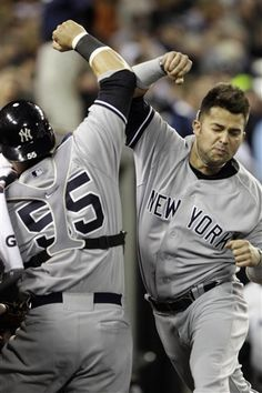 NY Yankees - Russell Martin and Nick Swisher