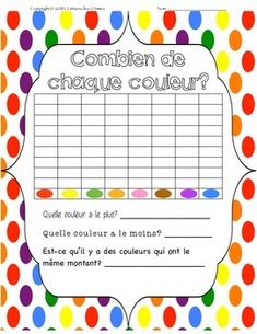 This is a FREE Smarties Candy counting graph. Great to use this time of year when you can find the fun size packs of Smarties. This activity is suitable for Pre-Kindergarten to Grade 1 classes, although who doesnt like graphing and eating Smarties! This freebie includes both a French and English worksheet.