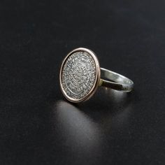 Excited to share the latest addition to my #etsy shop: Greek Phaistos Disc Ring, Sterling Silver and Gold Ring, Ancient Minoan Cretan Statement Ring, Greek Mystery, Wearable Art, Greek Jewelry Greek Jewelry, Minoan, Bronze Age, Statement Rings, Rose Gold Plates, Druzy Ring, Wearable Art, Sterling Silver Jewelry, Jewelry Collection