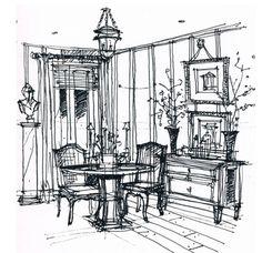 Sketchbook | Michael Hampton Design | Interior Design Sketches Washington DC