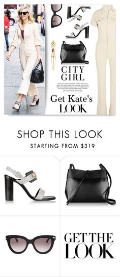 """Kate~"" by drenise ❤ liked on Polyvore featuring Proenza Schouler, H&M, Kara, Valentino, Christian Louboutin, GetTheLook, StreetStyle, jumpsuit, cateyes and kateblanchett"