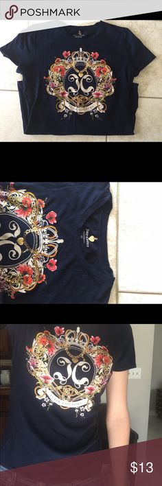 Juicy Couture T-Shirt Size Small Women's Size Small. Color - Navy. Juicy Couture Tops Tees - Short Sleeve