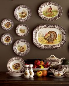 """Woodland"" Dinnerware by Spode at Horchow."