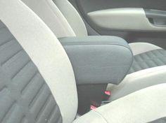 FIAT GRANDE PUNTO / PUNTO EVO / LINEA / PUNTO 2012 Armrest with large storage in dark grey Eco leather