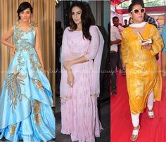 Bollywood Celebrities in Ethnic Dresses