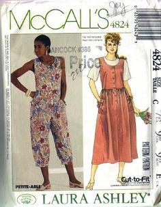 Misses Laura Ashley Jumpsuit, Sundress Pattern Size 10,12 Bust 32.5,34 McCalls 4824. $3.95, via Etsy.