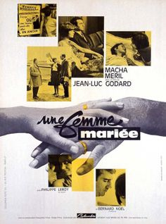 Original poster for Une femme mariée (A Married Woman), France, 1964. Directed by Jean-Luc Godard