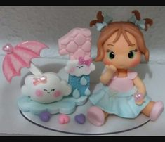Fondant Girl, Polymer Clay Disney, Fondant Toppers, Fondant Figures, Polymer Clay Flowers, Pasta Flexible, Clay Dolls, Cold Porcelain, Clay Art
