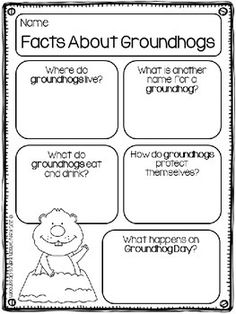 (FREE) Groundhog Day is celebrated every year on February 2nd.  Legend has it that if a groundhog emerges from its burrow and sees its shadow, then there will be six more weeks of winter.  If the groundhog emerges and doesn't see its shadow, then spring will come early.