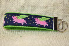 Keyfob wristlet / key chain / key tag / When Pigs Fly