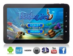 """ZEPAD 10.2"""" Capacitive Screen Ultra Slim Tablet PC W/ Android 4.0 & Wi-Fi    This Android tablet PC featuring 5-points touch screen and Wi-Fi allows you to download thousands of apps and games."""
