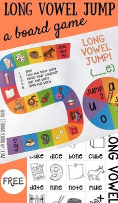 FREE Long Vowel Jump Board Game