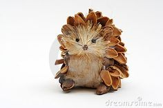 Hedgehog made with pine cones.  Couldn't find directions.
