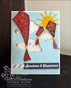 Paper Fantasee - The Craft Blog: Tattered Tangles Shaker Card - #gettangled #kits #tatteredtangles