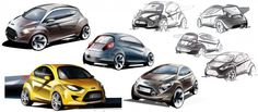 Ford KA - Design Sketches by Kemal Curic