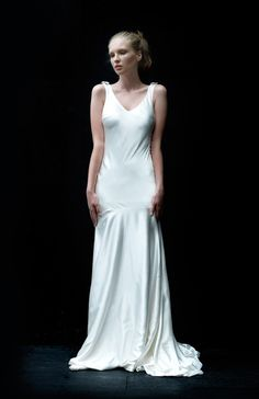 Sleek and slinky bias gown, gown style Poise from We Love Yu.