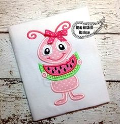 Watermelon Ant Applique - 3 Sizes! | What's New | Machine Embroidery Designs | SWAKembroidery.com Beau Mitchell Boutique