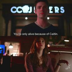 Barry lives thanks to Caitlin and She cares about him. #Snowbarry