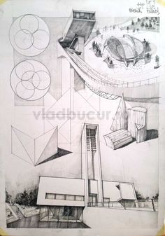 Subiecte – Page 3 – Vlad Bucur Architecture Student, Architecture Design, Cool Drawings, Drawing Sketches, Empty Canvas, Building Drawing, Drawing Studies, Drawing Practice, Layout