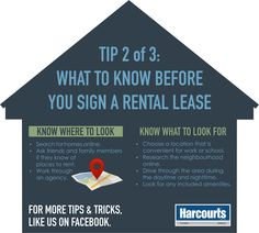 Tip 2 of 3: What to know before you sign a rental lease. #‎TopTipTuesday‬ ‪#‎HarcourtsPlatinum‬