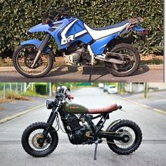 "Gefällt 5,455 Mal, 56 Kommentare - Cafe Racers and Life (@epidemic_motors) auf Instagram: ""Suzuki 800 dr scrambler before&after. What do you think?custom by @bpmotodesign #motorcycle…"""