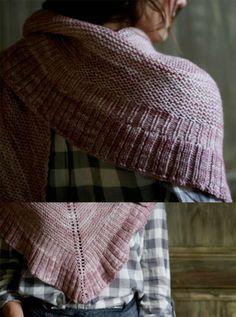 Mara Shawl knit with Madelinetosh Tosh DK yarn would be a heavenly treat. #knitting #freepattern