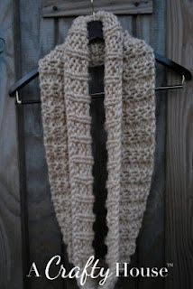 easy infinity scarf pattern.