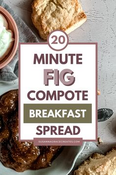 The BEST breakfast spread ever! Spiced. Gooey. The ultimate pancake, waffle, and French toast topper. The perfect way to use up fresh or frozen figs! #easyrecipe #simplerecipe #fig #jam #compote Breakfast Bowls, Breakfast Time, Best Breakfast, Toast Toppers, Angle Food Cake Recipes, Fig Fruit, Compote Recipe, Cooking For Beginners