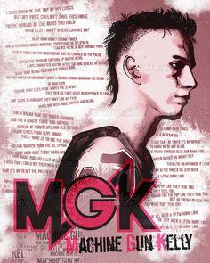 Machine Gun Kelly Poster by Fry Massari on CreativeAllies.com