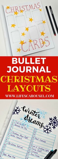 Christmas Bullet Journal | Getting ready for December and the Holiday Season with these useful Christmas BuJo spreads! Keep organized and stay sane this holiday season with Bullet Journals!