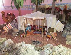 Foro de Belenismo - Arquitectura y paisaje -> jaima Christmas Nativity, Christmas Crafts, Xmas, Arabian Tent, Ceramic Houses, Dollhouse Accessories, Kids Church, Beautiful Christmas, Nativity Scenes