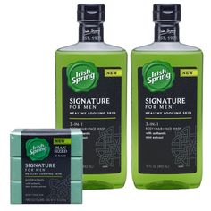 Irish Spring Signature For Men Body Wash Just $1.50 Each At CVS! Face Wash, Body Wash, Shower Accessories, Male Grooming, Garden Shop, Ml B, Bar Soap, Healthy Skin, Irish