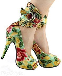 Show Story LF30402 Multicoloured Gladiator Platform Pump