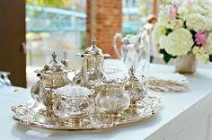 silver tea service