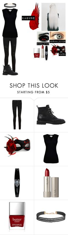 """""""Tokyo ghoul re oc 2#"""" by gglloyd ❤ liked on Polyvore featuring Yves Saint Laurent, Giuseppe Zanotti, Traits, Velvet by Graham & Spencer, Hot Topic, Ilia, Butter London and Humble Chic"""
