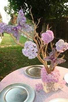 Garden Purple Centerpiece Wedding Flowers Photos & Pictures - WeddingWire.com