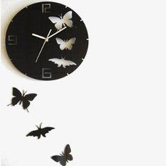 DIY Butterfly Clock