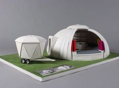 Architecture mobile sur roues Portable Shelter, Design Innovation, Modular Housing, Perriand, Dome House, Micro House, Vintage Trailers, Work Travel, Plein Air
