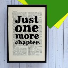 Just One More Chapter Book Lovers Gift