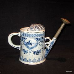 Outstanding 1903s Vintage Holland Dutch Royal Delft Porceleyne Fles Watering Pot   eBay